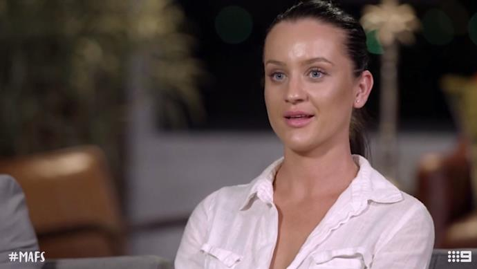 Ines could see a future with Sam who unceremoniously dumped her on National TV. *(Source: Channel 9)*