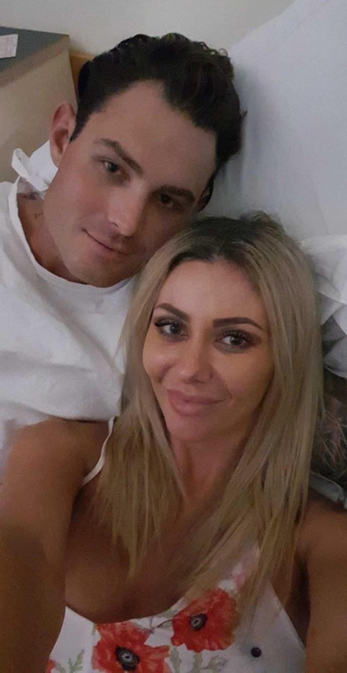 Sam Ball and his former girlfriend Akila Ahmunett, whose real name is Nadia Tabbaa. *(Source: Facebook)*