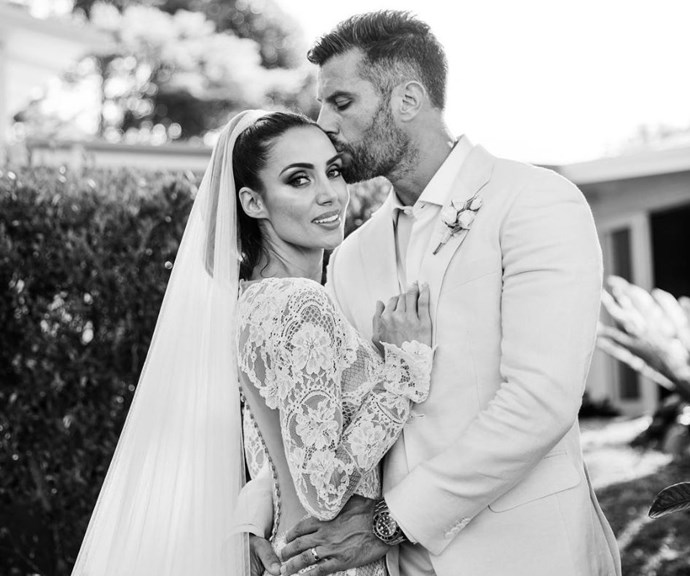 The Bachelor's golden couple tied the knot in a stunning ceremony last year. *(Image: Instagram)*