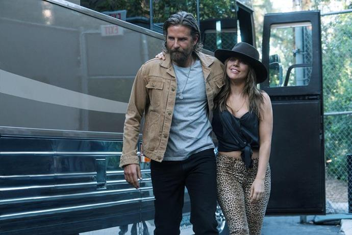Bradley Cooper and Lady Gaga in *A Star Is Born.*