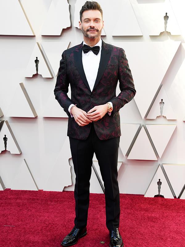 Talk show superstar Ryan Seacrest is looking dapper in his suit.