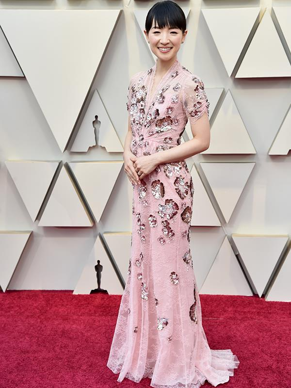 This look sparks joy! Clean queen Marie Kondo looks heavenly in blush pink