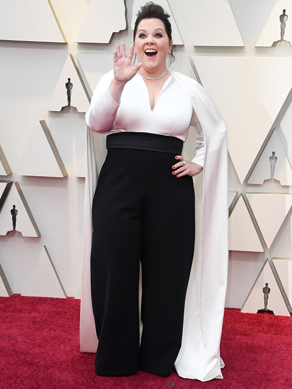 2019 really is the year of the pant suit, and Melissa McCarthy is leading the way in her custom Brandon Maxwell design.