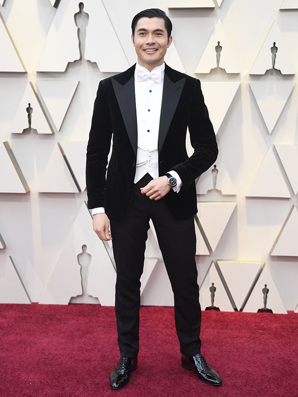 Hellooo Henry Golding in Ralph Lauren! Don't mind us, we'll just be drooling over here...