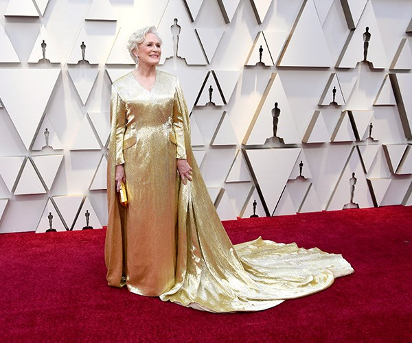 She's pure gold! Hollywood legend Glenn Close has been nominated for an Oscar no less than seven times over her incredible career - and this year deserves to be hers in this Oscars-inspired Carolina Herrera gown!