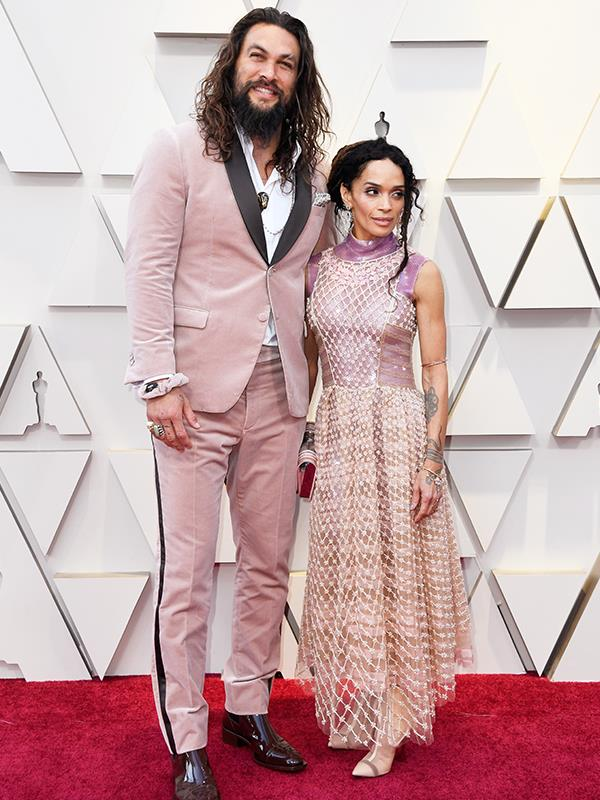 "*Game of Thrones* actor [Jason Momoa and actress Lisa Bonet](https://www.nowtolove.com.au/parenting/celebrity-families/jason-momoa-lisa-bonet-53580|target=""_blank"") colour coordinate like the power couple they are."
