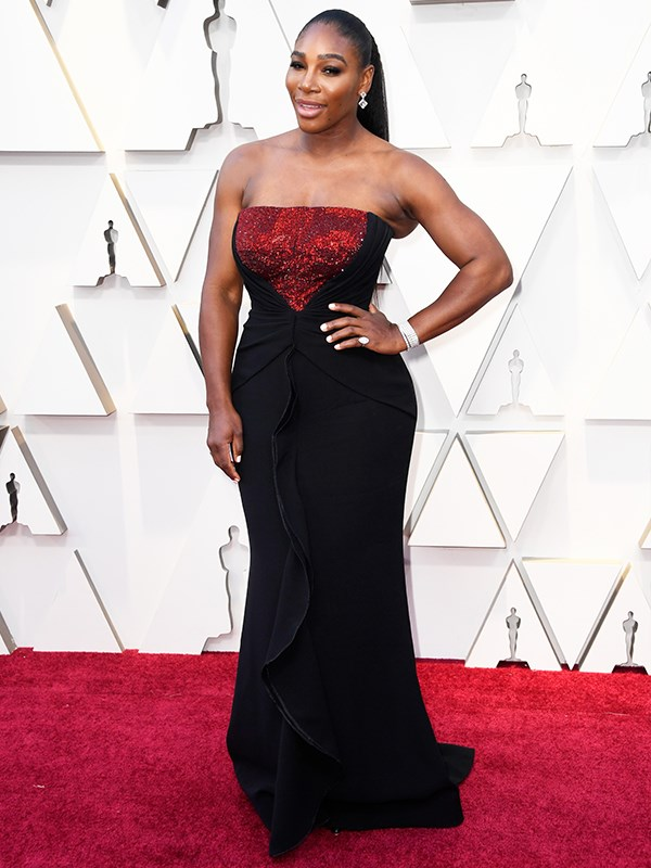 Game, set, match! Tennis legend and mum-of-one Serena Williams is classy and elegant in an Armani Privé gown as she takes on the red carpet.