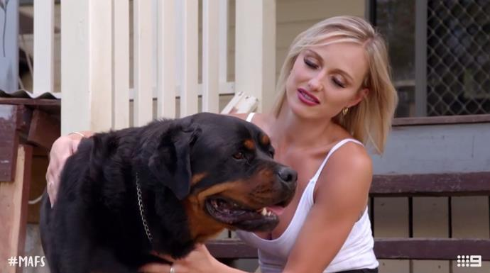 How adorbs is Susie's pet Rottweiler? *(Source: Channel 9)*