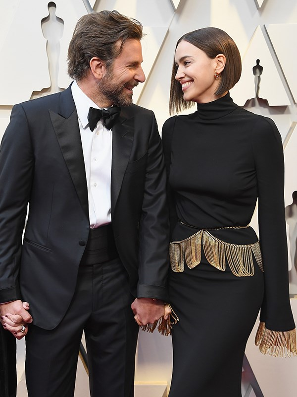 Another Hollywood power couple make their grand entrance - we could happily stare at Bradley Cooper and Irina Shayk all day - that Tom Ford tux is just the beginning...