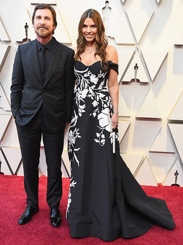 Christian Bale and Sibi Blazic are all smiles and oozing glamour on Hollywood's classiest night.