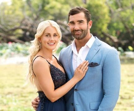 Last year's *Bachelorette* couple, Taite and Ali are very much still together. *(Source: Network 10)*