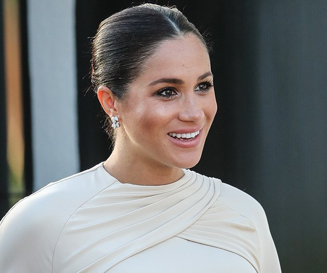 The cream-toned kaftan-inspired gown looked incredible on the radiant royal, who paired it with simple silver jewellery and flawless simple makeup. *(Image: Getty Images)*