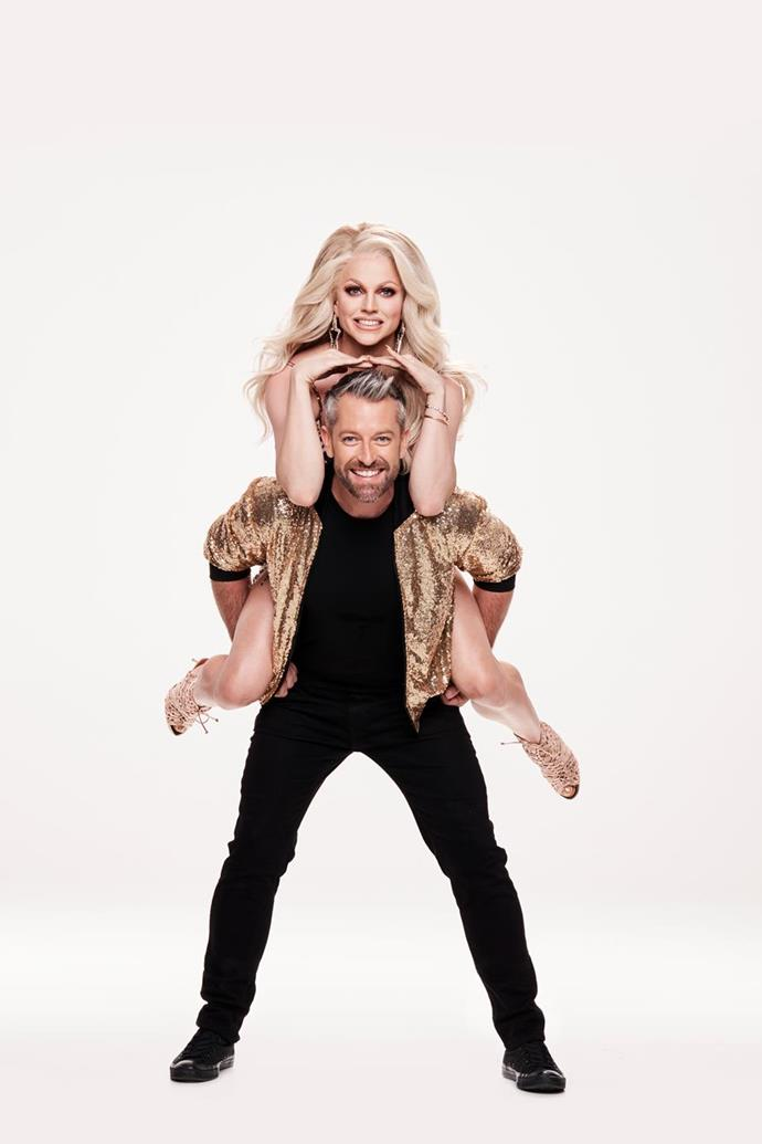 Courtney and her partner Josh. *(Image: Channel 10)*