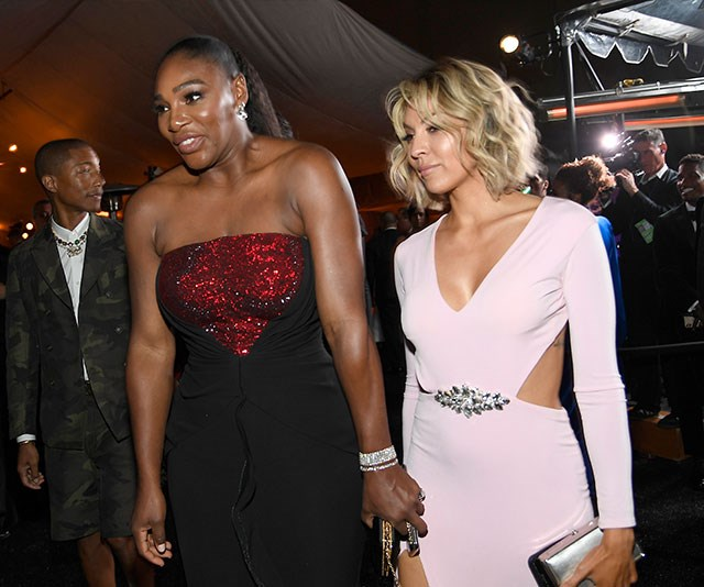 Serena Williams, who presented an award earlier in the night, makes her way into the Governors Ball. *(Image: Getty)*