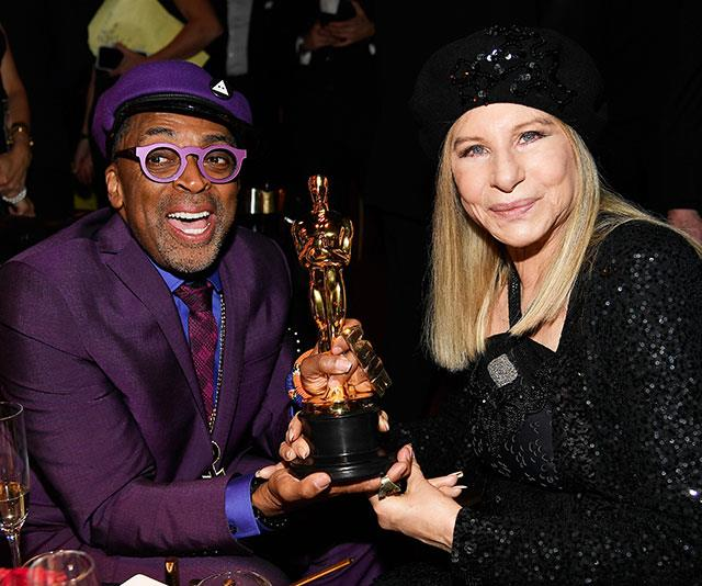 Spike Lee and Barbra Streisand rub shoulders at the Governors Ball. *(Image: Getty)*