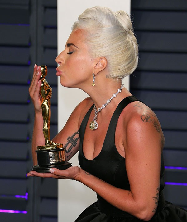 While Lady Gaga is showering her one in kisses! *(Image: Getty)*