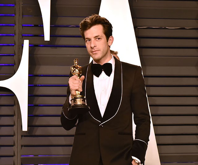 Best Song winner Mark Ronson isn't letting go of his golden statue anytime soon. *(Image: Getty)*