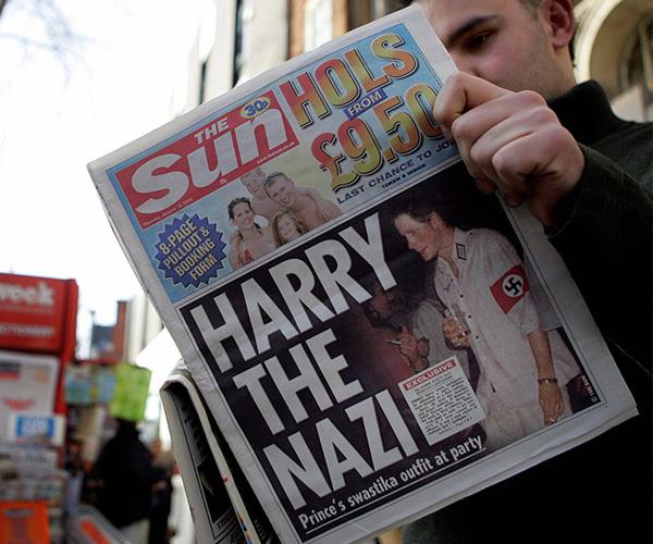 Harry's Nazi costume was the talk of the town (if not the world) in 2005. *(Image: Getty Images)*