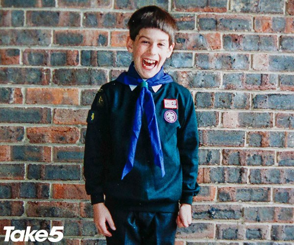 Me in my scout uniform.