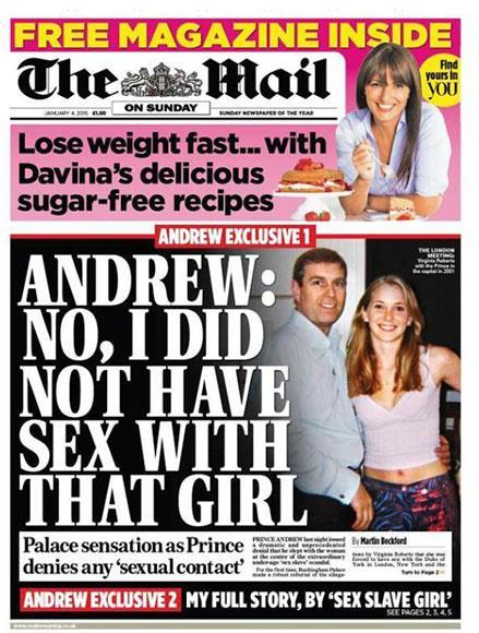 Prince Andrew vehemently denied the claims. *(Image: The Mail on Sunday)*