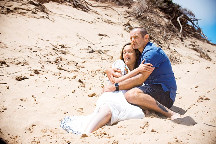 Toadie holds Sonya in her final moments.