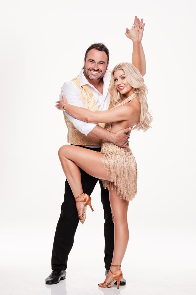 Miguel Maestre and his professional dance partner Megan. *(Image: Channel 10)*