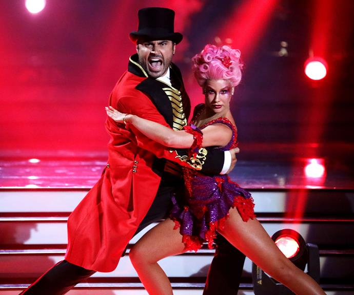 Miguel chose to dance to a song from *The Greatest Showman*. *(Image: Channel 10)*