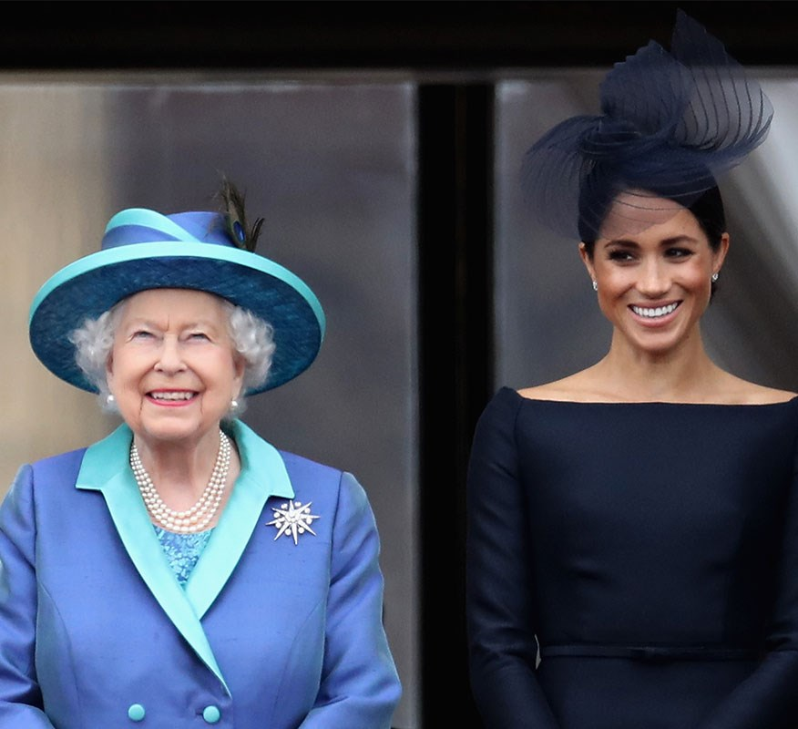 Dickie Arbiter warns Meghan that she needs to remember the only star of the monarchy is the Queen. *(Image: Getty)*