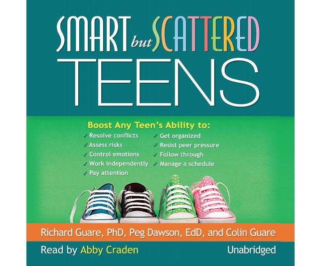 "***Smart but Scattered Teens* - Richard Guare, Peg Dawson, Colin Guare:** The latest research in child development shows that many kids who have the brain and heart to succeed lack or lag behind in crucial ""executive skills""–the fundamental habits of mind required for getting organised, staying focused, and controlling impulses and emotions. Learn easy to-follow steps to identify your child's strengths and weaknesses, use activities and techniques proven to boost specific skills, and problem solve daily routines. Small changes can add up to big improvements–this empowering book shows how."