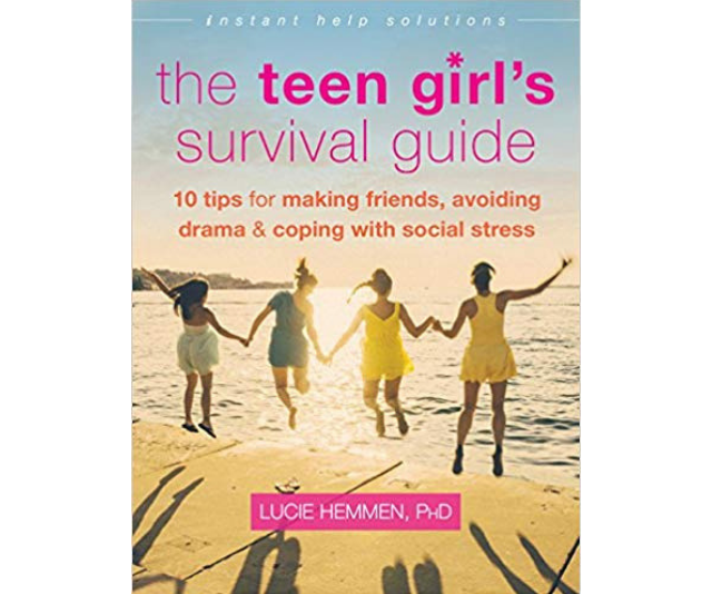 ***The Teen Girl's Survival Guide* - Lucie Hemmen:** *The Teen Girl's Survival Guide* offers tips for teens on finding their strengths, identifying negative self-talk, understanding social situations, and making new friends. Most importantly, they'll discover key strategies for creating a strong sense of self-knowledge and self-appreciation-two key building blocks for succeeding in the social world, and beyond.