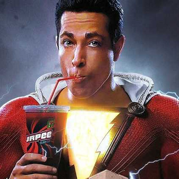 "**Shazam!** *(in cinemas April 4)* Billy Batson (Asher Angel) can transform himself from 14-year-old kid to adult superhero (Zachary Levi) by shouting one word, ""Shazam!"".  He can use his new powers when he comes face-to-face with the evil Dr. Thaddeus Sivana (Mark Strong).    *(Image: Warner Bros.)*"