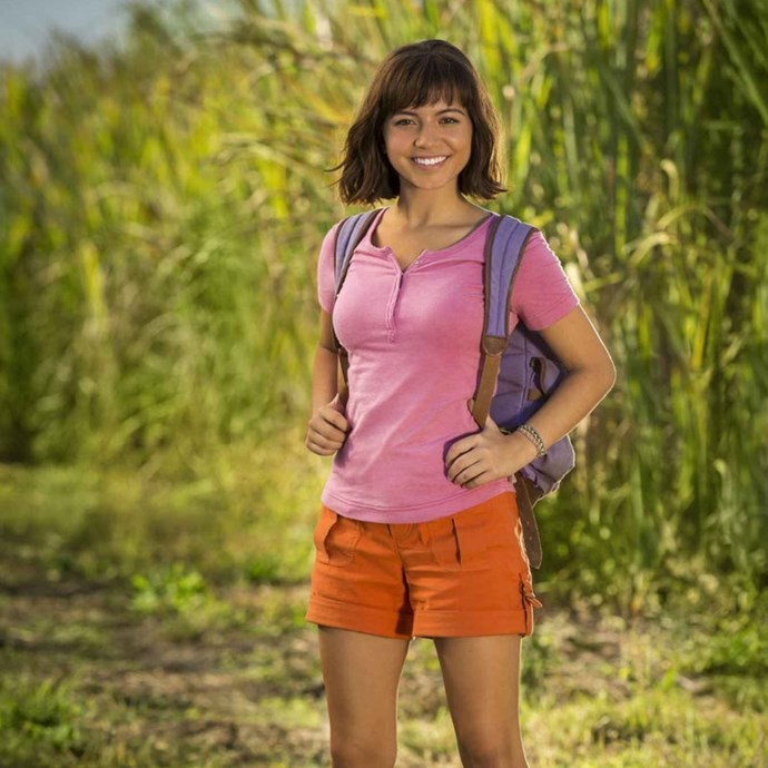 **Dora the Explorer** *(in cinemas September 19)* After exploring jungles for most of her young life, Dora (Isabela Moner), comes to life in time to start high school. Thankfully, her pals Boots and Diego will be there to help her cope with school life.   *(Image: Nickelodeon)*