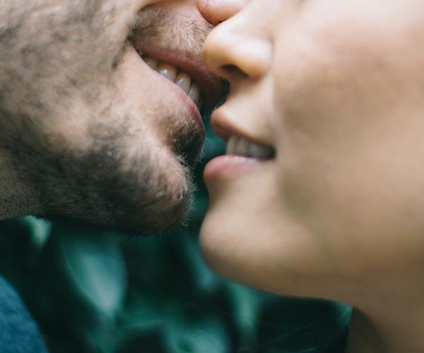A simple kiss is a great way to make things a little more intimate. *(Image: Getty Images)*