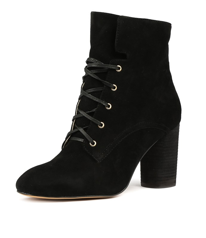 """Mollini Esking boot, [available from Style Tread](https://www.styletread.com.au/esking-black-suede.html