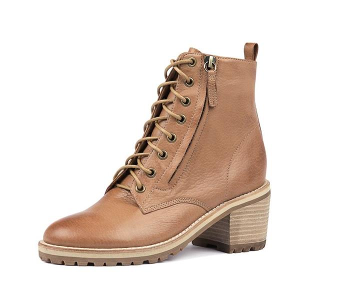 "Mollini Bettes Dk boot, [available from Style Tread](https://www.styletread.com.au/bettes-dk-tan-leather.html|target=""_blank""