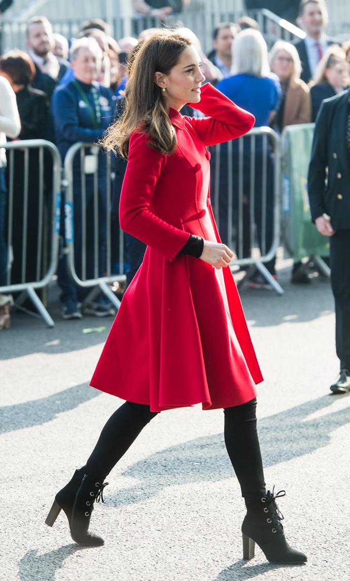 Kate is setting the precedent for winter trends this season. *(Image: Getty)*