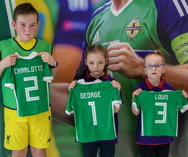 Even George, Charlotte and Louis got a little present from the Belfast trip! *(Image: Getty Images)*