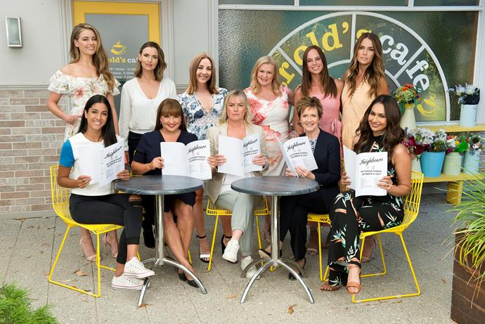 The female stars of Neighbours will take part in a special episode.