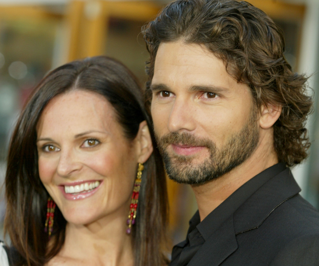 Eric married his wife, publicist Rebecca Bana (née Gleeson), in 1997. *Image: Getty.*