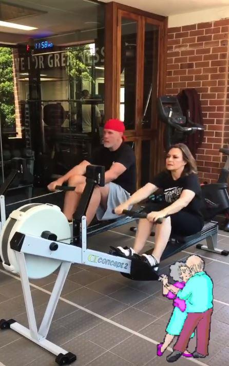Lisa and her husband Pete do a couples workout each week. *(Image: Instagram / @lisa_wilkinson)*