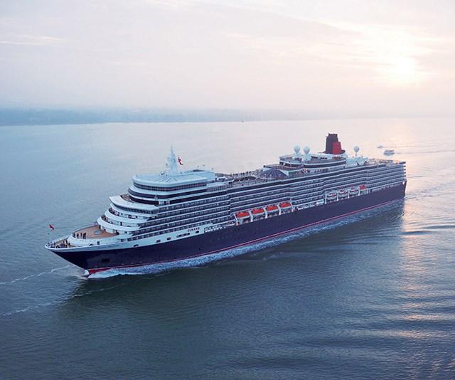 She's a big 'un! It's very easy to get lost on Cunard's Queen Elizabeth. *(Image: Supplied)*