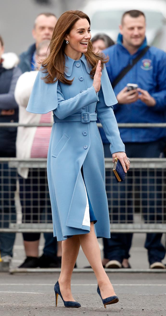 Love the matching blue accessories! *(Image: Getty)*