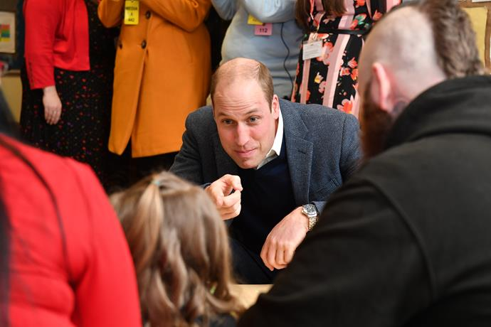 Even Prince William was a hit with the kids. *(Image: Getty)*
