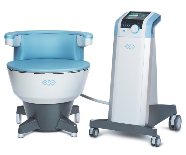 The Emsella Chair is revolutionising women's pelvic health. *Image: Supplied.*