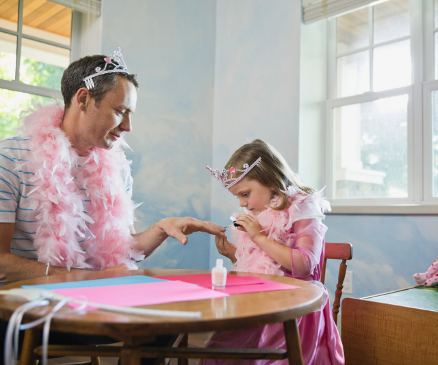 **Dress ups:** You don't need to spend a lot on fancy dress. Letting the kids go wild in mum and dad's wardrobes is often enough to set off a whole raft of adventurous, imaginative play.  *Image: Getty.*