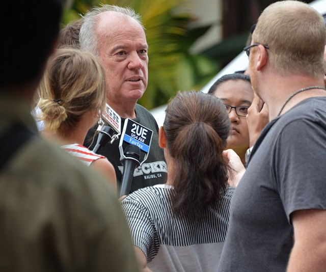 Mike interviewed in Bali before his interview with Schapelle Corby. *(Image: Getty Images)*