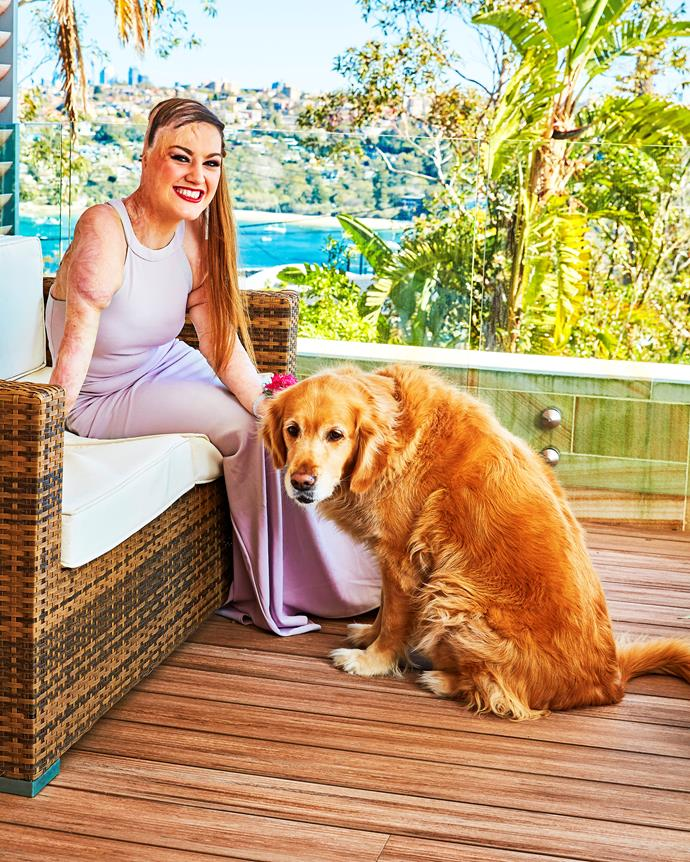 Sophie Delezio and her adorable dog. *(Image: Woman's Day)*