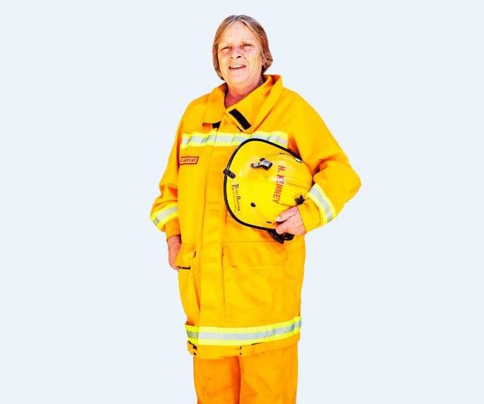 Firefighter Helen Kenney. *(Image: Woman's Day)*