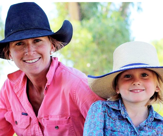 Beck Hourigan with her daughter. *(Image: Supplied)*
