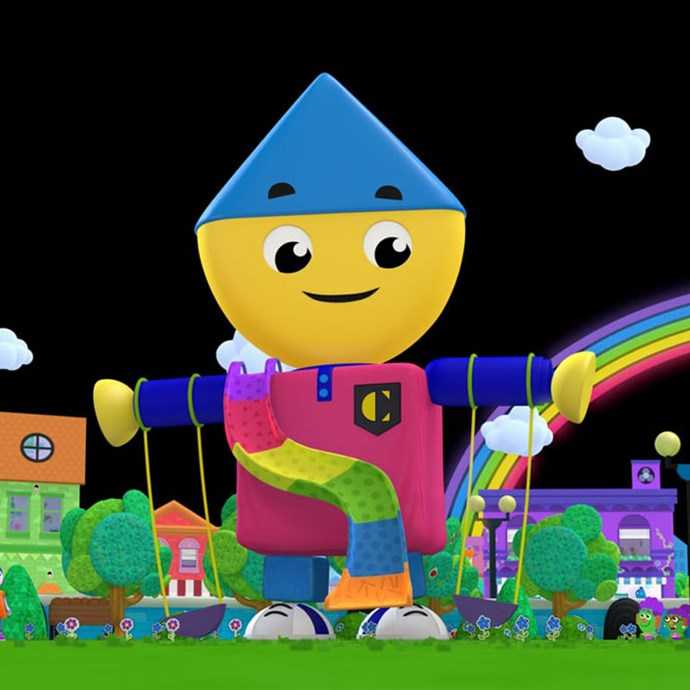 **Charlie's Colorforms City** *(TV series)* Alongside a colourful cast of characters, the fun and lovable, Charlie creates fun stories using shapes. *Image: Netflix*